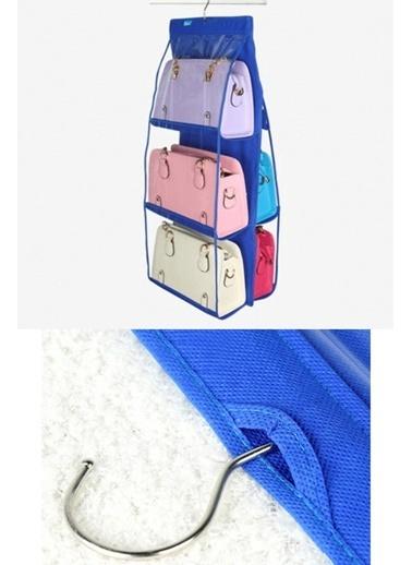 Practika 6 Gözlü Pratik Dolap İçi Çanta Askılığı Oganizer Renkli